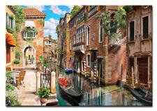 Wandbild als XXL Kunstdruck auf Leinwand Straße in Venedig Wohnzimmer Deko Druck