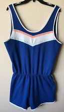 Vintage Inspired Size XL Athletic Romper Jumpsuit One Piece Summer Shorts Outdit