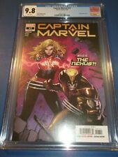 Captain Marvel #17 Ms. Marvel CGC 9.8 NM/M X-men Gorgeous gem Wolverine Wow