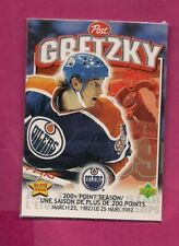 RARE 1999-00 OILERS WAYNE GRETZKY 200+ POINT SEASON SEAL POST FOOD (INV# A7837)