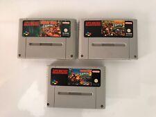 Super Nintendo Snes DONKEY KONG 1-2-3 TRILOGIA Completa