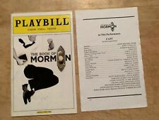 BOOK OF MORMON Broadway Original Cast Playbill + Insert! Josh Gad! February 2012