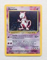 Mewtwo Holo 10/102 Base Set Pokemon Card Beautiful Rare Vintage NM Mint