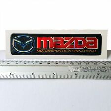 MAZDA PLATE RESIN EMBLEM DOMED 3D CAR BADGE STICKER STRIPE FREE SHIPPING