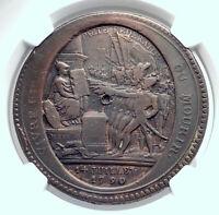 1792 FRANCE French Revolution BASTILLE Day Founding Antique Medal NGC i81252
