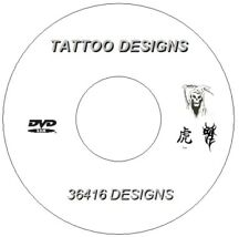 Over 7.7gb DVD 36 416 Flash Designs & Tattoo Books Tribal Japanese Demons