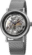 Akribos XXIV Men's 43mm Silver Steel Bracelet & Case Watch AK732SSB