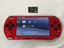 Sony PSP-3000 Console Red / Black FW 6.61 Works Japan model .1