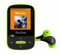 SanDisk Clip Sport MP3 Player 8GB  Lime holds 2000 songs