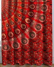 Red Peacock Mandala Tapestry Curtain Home Decor Living Room Darkening Window