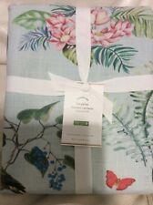 Pottery Barn Lia Palm Shower Curtain NWT 72x72 Cotton Floral Tropical