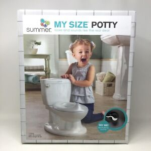 Summer My Size Potty with Transition Ring & Storage, Gray Realistic Potty Train