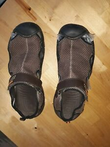 Crocs Swiftwater Espresso Brown Mesh Water Shoes Sandals Men's Size 12M great
