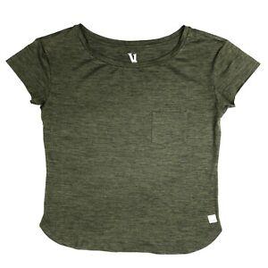 Vuori Lux Top womens XS Army Green Soft Performance Pocket Oversized Tee T Shirt