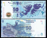 Argentina 50 Pesos ND 2015 P-362 Commemorative Malvinas NEW-UNC