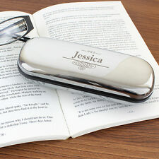 PERSONALISED Glasses Case - Spectacle Box Holder Hard Metal Shell Birthday Gift