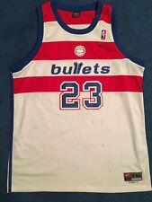 NBA Authentic Michael Jordan 23 Washington Bullets Jersey Nike White XXL