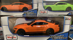 1:18 Maisto Ford Mustang Shelby GT500🇺🇸 American Muscle Sports Car 1/18 Orange