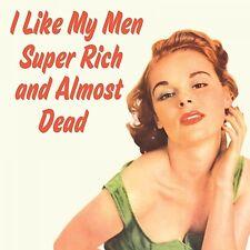 Coaster mi piacciono i miei Uomini super ricchi e quasi morto Regalo Retrò Vintage Nuovo