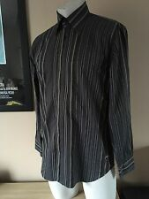 Mens Duck And Cover Grey Long Sleeved Shirt Size Medium (pit To Pit 21 Inches)