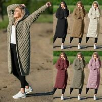 Fashion Women's Hooded Thick Knitted Sweater Cardigan Coat Long Sleeve Outwear