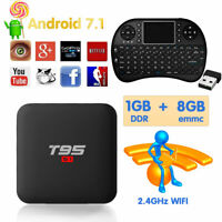 T95 S1 TV Box Android 7.1 Amlogic S905W 2GB+16GB with H18 MINI Wireless Keyboard