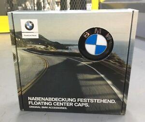 BMW Wheel Floating Center Caps Set of 4 OEM 36122455269