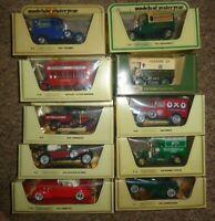 JOB LOT  Matchbox Yesteryear x 10  VANS & CARS SPORTS   STRAW  YELLOW BOXES ZZX