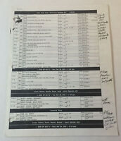 ONE TREE HILL set used SHOOTING SCHEDULE ~ Season 2, Episode 22