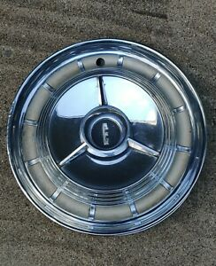 VINTAGE 1958/59 FORD EDSEL HUBCAPS WITH SPINNERS