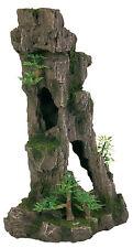 Hoch Rocky Cliff Fischhöhle mit Bäume & Pflanzen Aquarium Deko Stein Dekoration