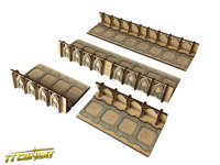 TTCombat - Si-Fi Gothic - SFG038 - Fortified Trench Straight Sections