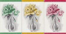 VINTAGE SWAP PLAYING CARD - 3 SINGLE - FLOWERS/ ROSES - #3