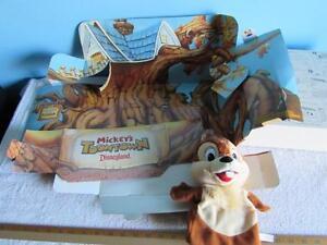 Mattel Puppet Theater Toontown Disneyland Chip Puppet 1993