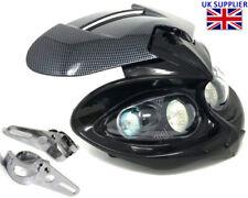 Motorcycle Headlight & Brackets Streetfighter Custom Project Bike Carbon Look