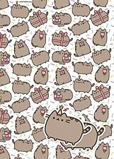 Pusheen 2 Sheets Of Gift Wrap And 2 Gift Tags NEW