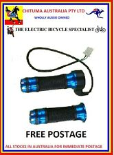 BLUE ANODISED THROTTLE HANDLE ELECTRIC BICYCLE OR SCOOTER   .STOCK IN AUSTRALIA