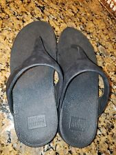 Ladies Black Shimmer Fitflops Size 9