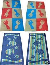 2 x Jacquard REVERSIBLE Beach Bath Towels 90cm x 150cm Summer