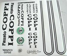 Fausto Coppi Campionissimo vintage bike decals new black or white set