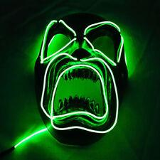 Halloween Mask Led Light Up Purge Mask For Women Men Adults Scary Horror Skull