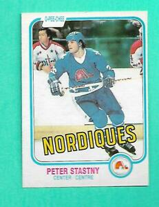 (1) PETER STASTNY 1981-82 O-PEE-CHEE # 269 NORDIQUES ROOKIE NM CARD (V0417)