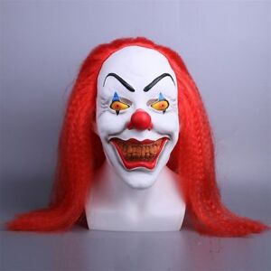 Cosplay Stephen King's It Pennywise Mask Halloween Horror Clown Mask Latex Props