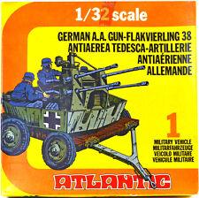 Atlantic German Four-Barrelled Flak Gun - set 2160 - mint-in-box - 60mm scale