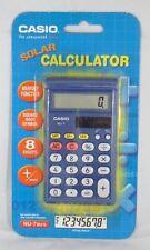 Solar Pocket Calculator Casio Blue  NU-7 (Memory Function & Square Root Symbol)