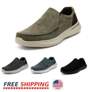 Men's Slip On Loafer Shoes Lightweight Canvas Moccasin Walking Shoes Sneakers