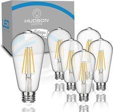 Hudson Lighting LED Edison Light Bulbs: 6 Watt, 4000K, Non-Dimmable, 6 pack