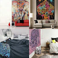 Indian Tapestry Wall Hanging Mandala Hippie Bedspread Throw Bohemian Cover Towel