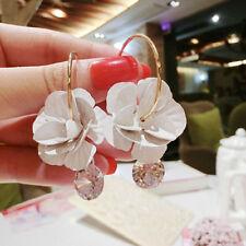 Korean Chram Flower Large Diamond Earrings Wedding Ornament Pendant Earrings