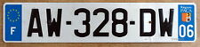 Genuine FRENCH RIVIERA FRANCE Eurostars license plate NICE Nizza AW 328 DW PACA